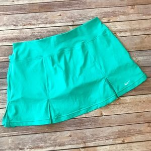 Nike Dry Fit Turquoise Pleated Athletic Skirt Sz L